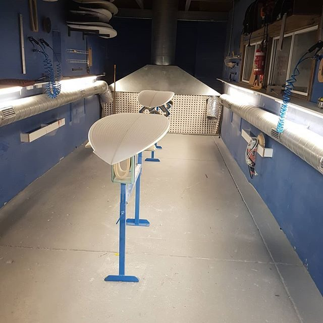 Check out the double shaping bay for rent