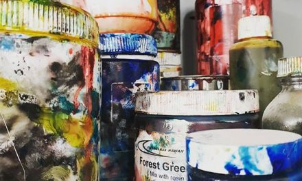 I thought a few pics of my pigment and paint collection would be Arty