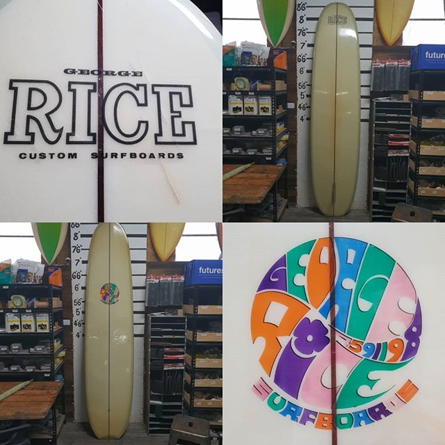 For sale  8'7 George Rice  surfboard excellent  condition for its age clean board. $2500 contact info@thesurfboardstudio.com.au